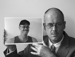 The Netherlands, Leusden, May 2005.<br /> Dilemma 1.  Selfportrait of Erik de Graaf.